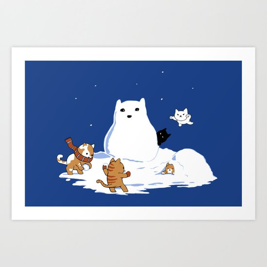Snowcat Art Print