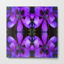 Purple flower geometry IV Metal Print