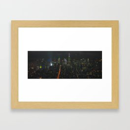 New York Skyline Midnight Framed Art Print