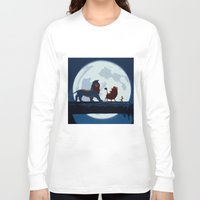 hakuna Long Sleeve T-shirts featuring Lion King Stylish Painting by Bolin Cradley Art