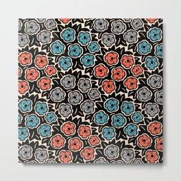 Mid Century Modern Flower Bouquet Pattern 944 Metal Print