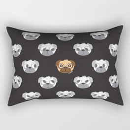 We are watching you. WOOF!!! Rectangular Pillow