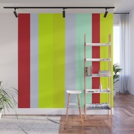 Striped Color BROWN BLUE GREEN Wall Mural
