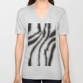 Abstract zebra print with stars Unisex V-Neck