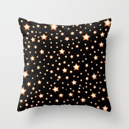 bright stars in night Throw Pillow