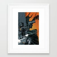 metal gear Framed Art Prints featuring METAL GEAR Ground Zeroes by Toni Infante