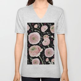 Ranunculus Unisex V-Neck