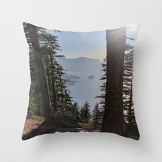 Phantom Ship Island Throw Pillow