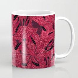 T.F TRAN RED PYTHON LILY GYMEA Coffee Mug