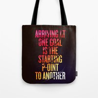 lettering Tote Bags featuring Lettering 002 by Noem9 Studio