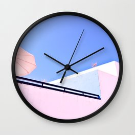 Blue and Pink Wall Clock