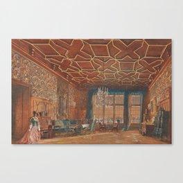 An Interior in Rosenberg Castle by Rudolf von Alt, 1856 Canvas Print