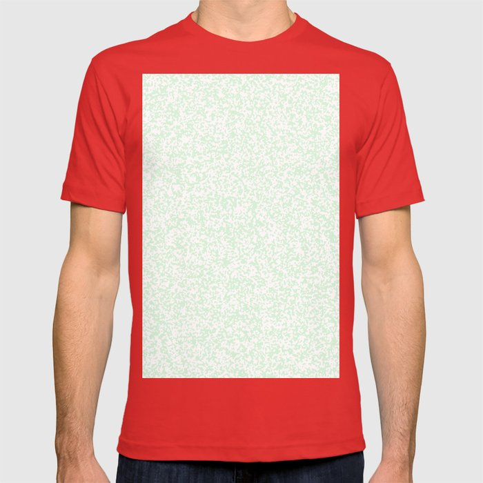 Tiny Spots - White and Pastel Green T-shirt