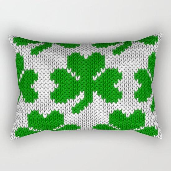 Shamrock pattern - white, green Rectangular Pillow