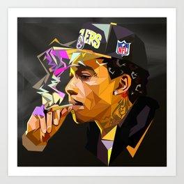 Hip-hop cubism Art Print