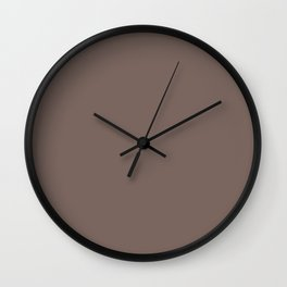 Deep Taupe Wall Clock