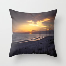 Cape San Blas Sunset  Throw Pillow