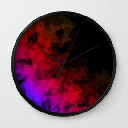 Dark origami Wall Clock