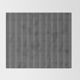 """Grey Vertical Lines Wool Texture"" Throw Blanket"