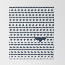 Whale of a Tail Throw Blanket