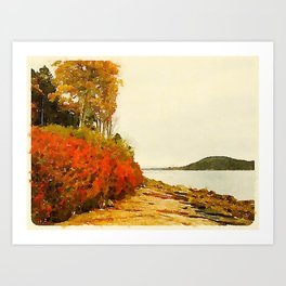 Seargant Drive, MDI, Maine Art Print