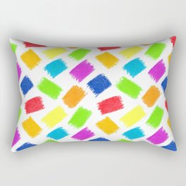 Seamless pattern background. Pastel crayon spots. Rectangular Pillow