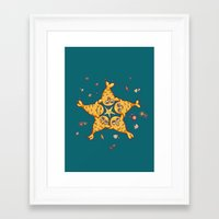 starfish Framed Art Prints featuring StarFish by Lili Batista