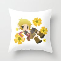 dragon age Throw Pillows featuring Dragon Age - Buttercup Sera by Choco-Minto