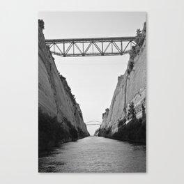 Corinth Canal Canvas Print