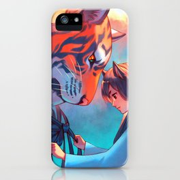 Tangled Tiger iPhone Case