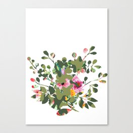 Floral camouflage Canvas Print