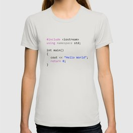 Hello world - First program in Computer science T-shirt