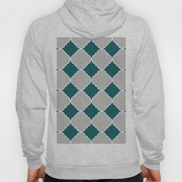 Benjamin Moore Metropolitan Light Gray, Beau Green, Ornamental Moroccan Tile Pattern Snowfall White Hoody