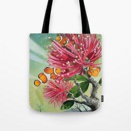 Clownfish & Ohia Tote Bag
