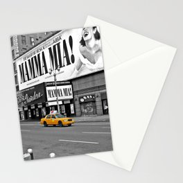 NYC Yellow Cabs Mamma Mia - USA Stationery Cards