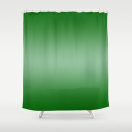 Green to Pastel Green Horizontal Bilinear Gradient Shower Curtain