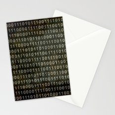 The Binary Code - Distressed textured version Stationery Cards