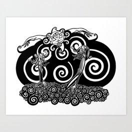 Turbulent Seeds Art Print
