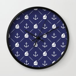 Retro Nautical Print Wall Clock