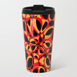 orange red circle pattern Travel Mug