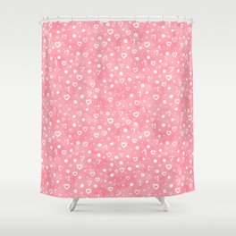 Roses Heart Pattern 01 Shower Curtain