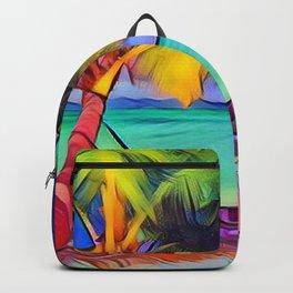 Beach with Hammock Backpack