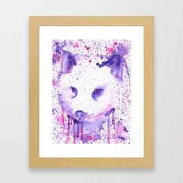 Purple Polarfox Framed Art Print