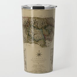 Map Of Jamaica 1775 Travel Mug