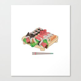 Sushi Platter Canvas Print