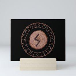 Sowilo Elder Futhark Rune Success, goals achieved, honor. The life-force, health, victory Mini Art Print