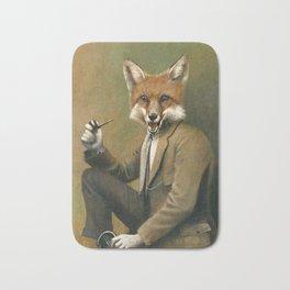 Vintage Fox In Suit Bath Mat