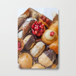 Plate of Italian Pastries Metal Print