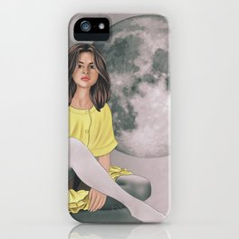 Talking to the Moon iPhone Case