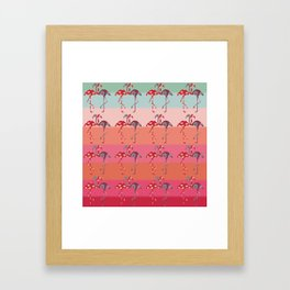 Ombre Pink Flamingos  Framed Art Print
